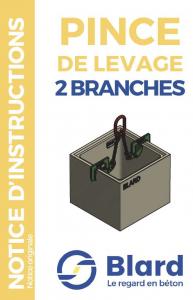 Notice pince de levage 2 branches